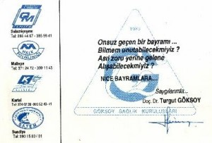 Dr.Turgut Göksoy.Göksoy sağlık kuruluşları