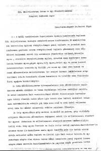 III.Milletlerarası Serum ve Aşı Standardizasyonu Kongresi Hakında Rapor*1