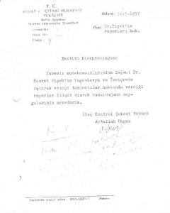 Kariyeri,terfi belgeleri,Hıfzıssıhha Enstitüsü yıllarına ait dosya*Aptullah Ungan