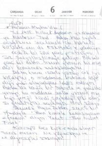 Prof.Dr.Muammer Kayhan'dan Mektup
