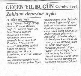 Prof.Dr.Nusret Fişek'ten Zakkum Deneyine Tepki