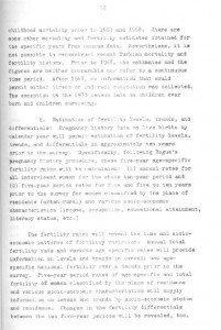 RESEARCH PLAN 1973 SURVEY OF POPULATION PROBLEMS IN TURKEY-syf10