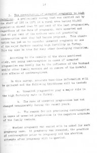 RESEARCH PLAN 1973 SURVEY OF POPULATION PROBLEMS IN TURKEY-syf14