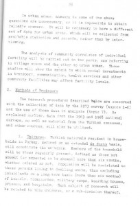 RESEARCH PLAN 1973 SURVEY OF POPULATION PROBLEMS IN TURKEY-syf26