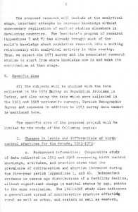 RESEARCH PLAN 1973 SURVEY OF POPULATION PROBLEMS IN TURKEY-syf6