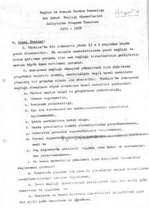 Sağlık ve Sosyal Yardım Bakanlığı Ana Çocuk Sağlığı Hizmetlerini Geliştirme Program Tasarısı 1972-1978-sayfa1