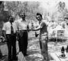Çubuk Kaymakamı, Prof.Dr.Zafer Öztek ile birlikte (Çubuk II. Barajı, 11 Haziran 1977)